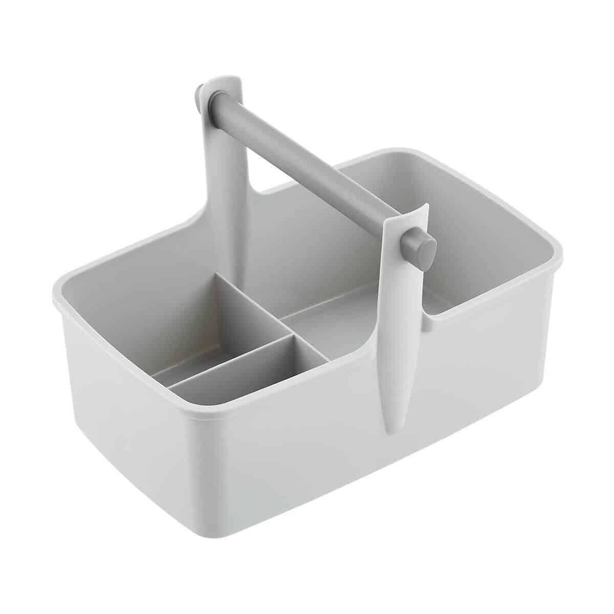 Grey utility bucket.