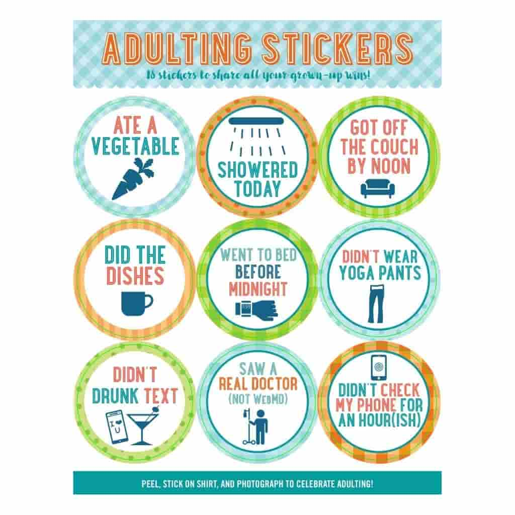 Adulting stickers.