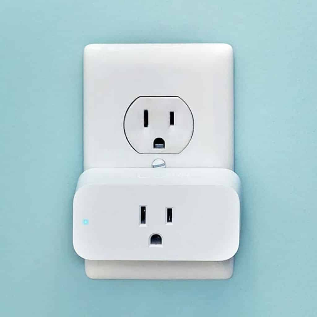 Amazon Smart Plug in an outlet.