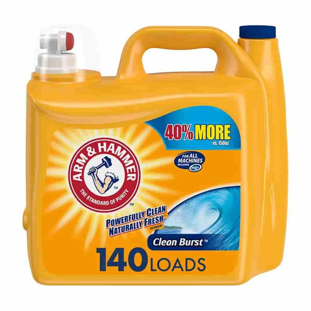 Arm and Hammer laundry detergent.