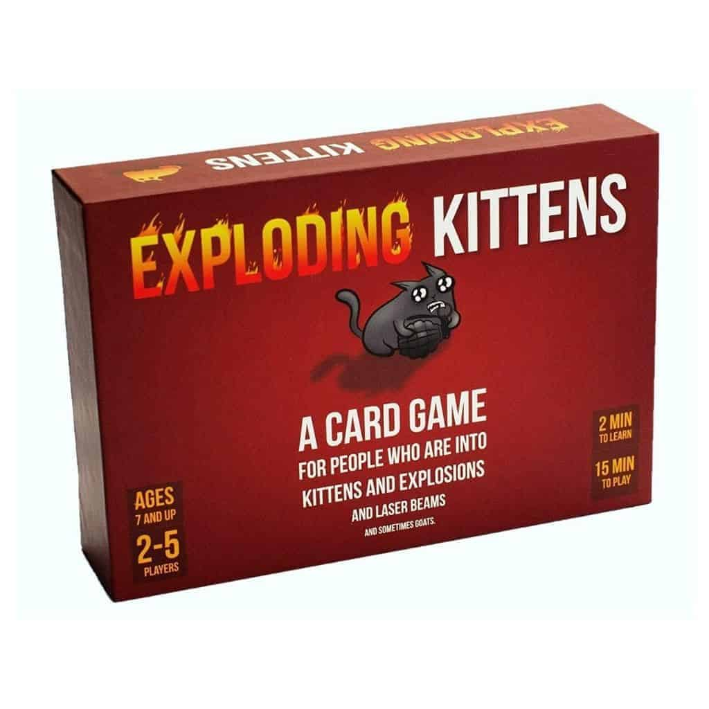 Exploding Kittens card game box.