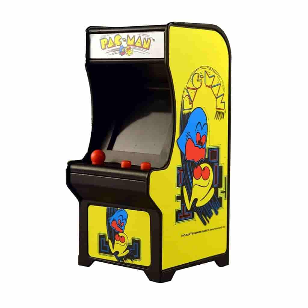 Miniature Pac-Man arcade game.