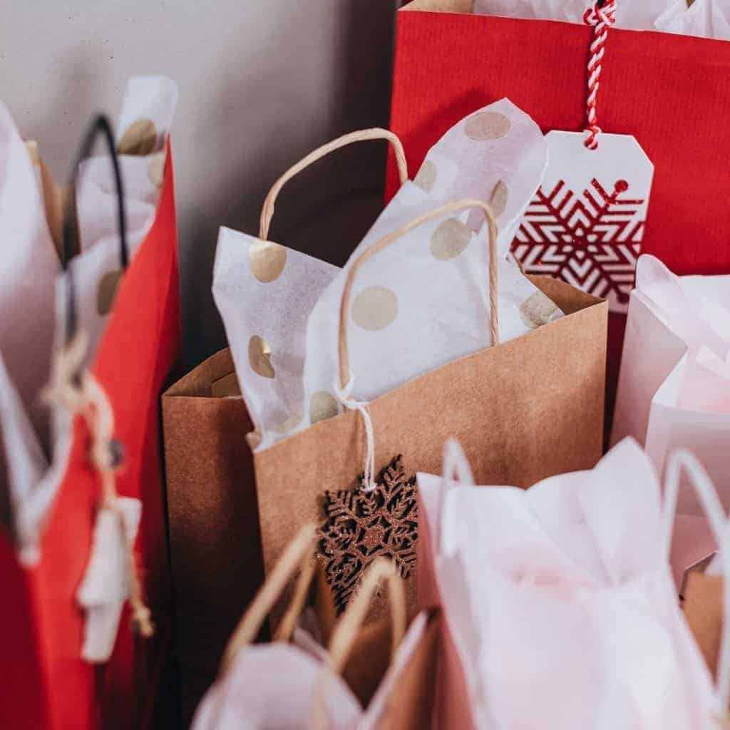 Bags of presents.