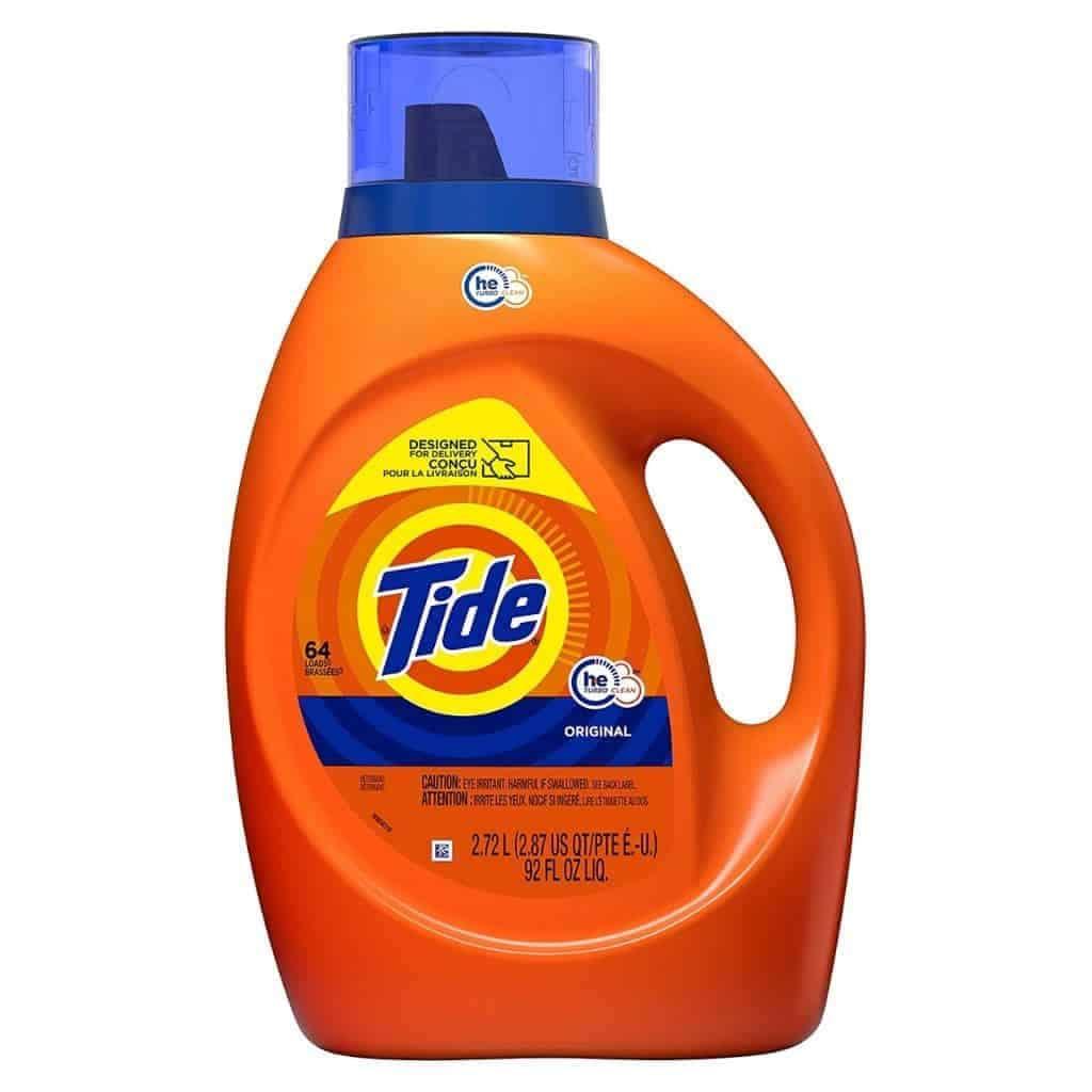 Tide original laundry detergent.