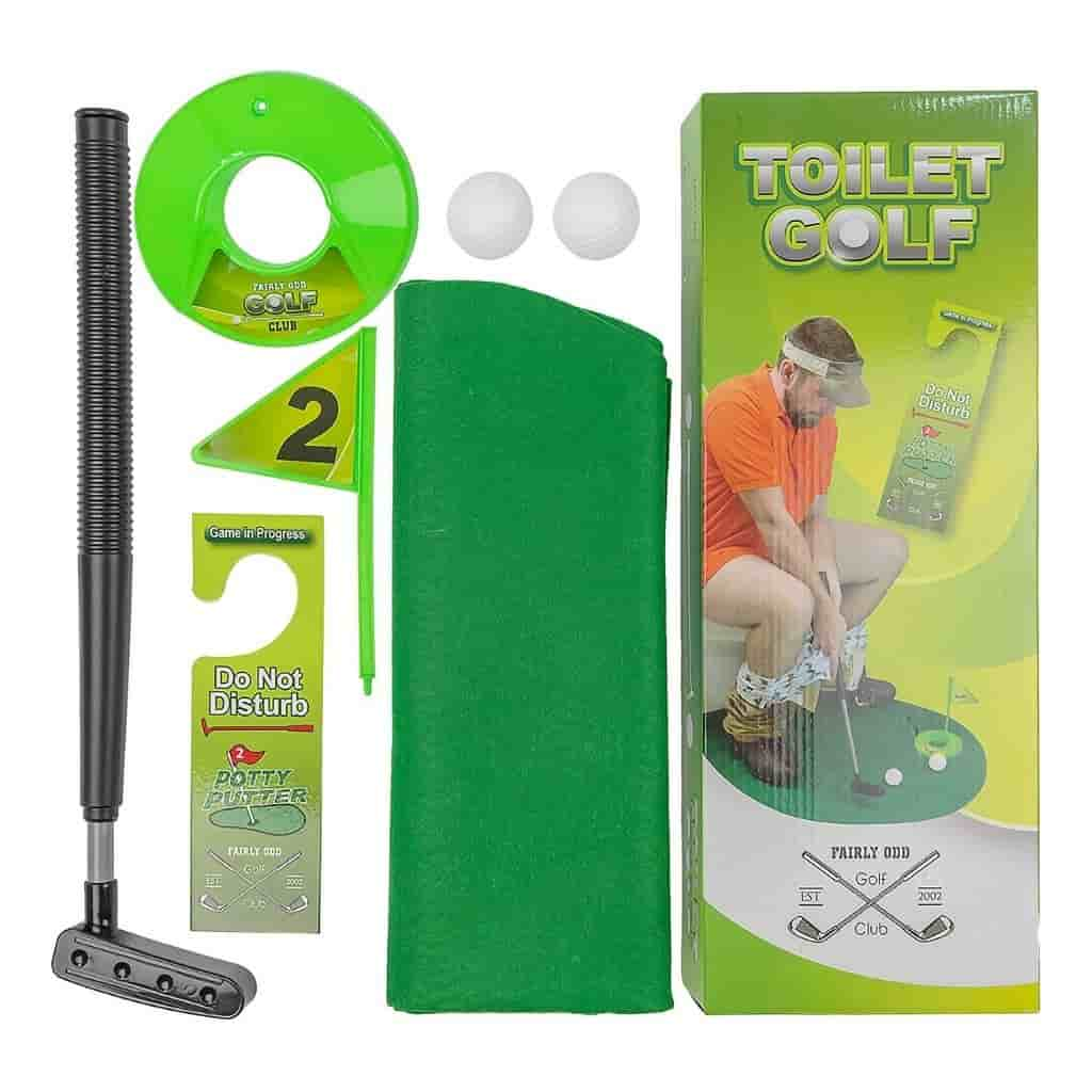 Toilet golf set.