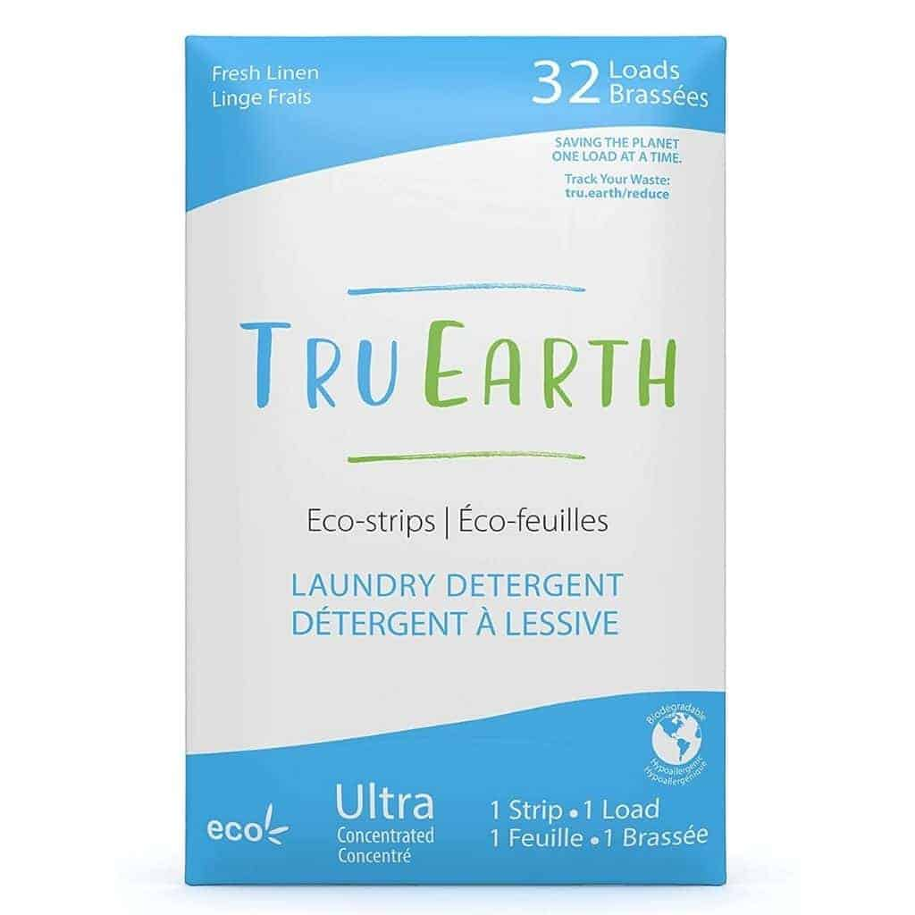 Tru Earth laundry detergent box.