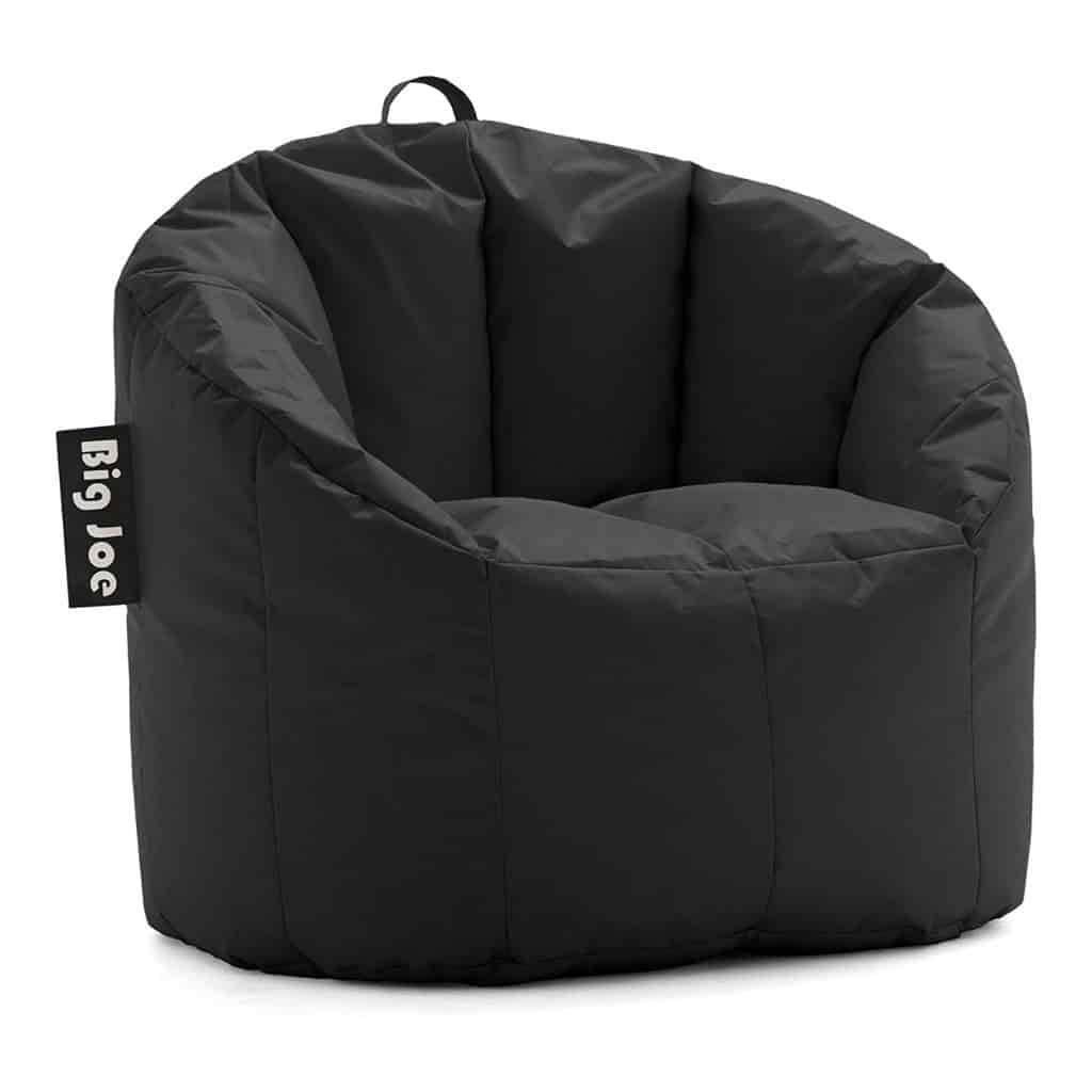 Black Big Joe bean bag chair.