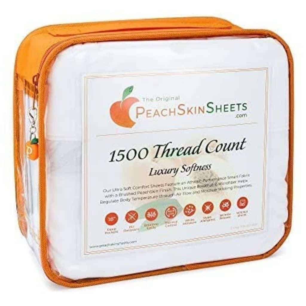 PeachSkinSheets container.