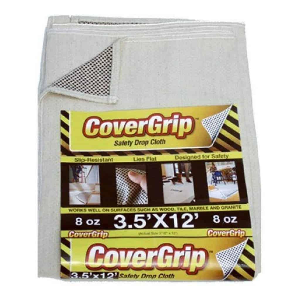 CoverGrip non-slip drop cloth.