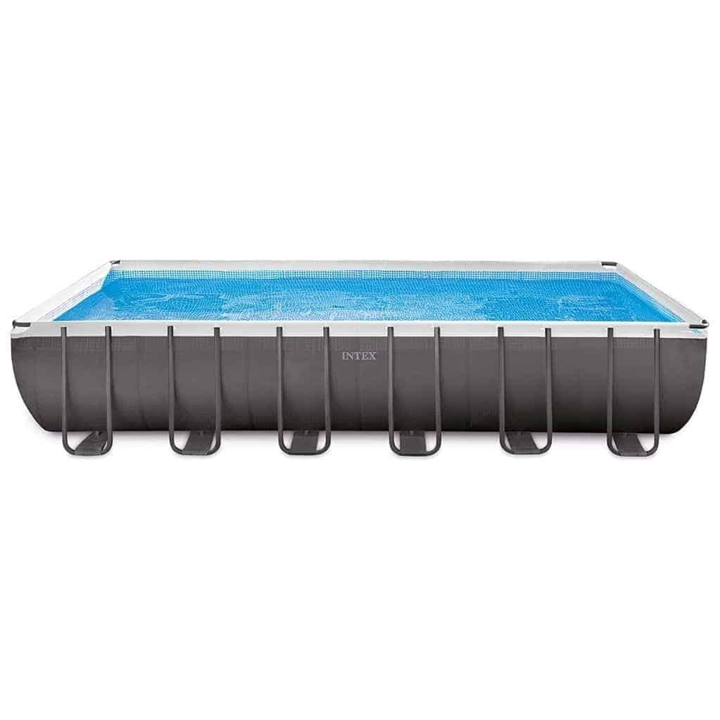 Intex large above-ground pool.