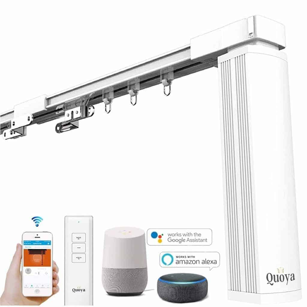 Quoya motorized curtain rail and accessories.